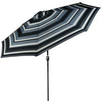 Sunnydaze 9-Foot Aluminum Solar LED Lighted Umbrella with Tilt & Crank