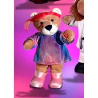 Applause Dance Party Animals Musical Plush 70s Girl Lion - Purple - 7.0 in. x 7.0 in. x 14.0 in.