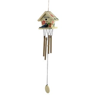 Holiday Gifts House Bird Flower Design Farmhouse Style Windbell Multicolor