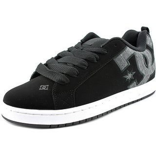 DC Shoes Court Graffik SE Men Round Toe Leather Black Skate Shoe