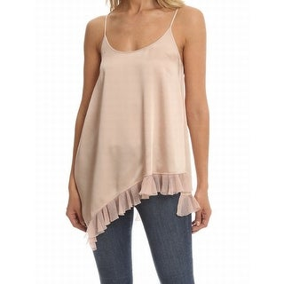 Elizabeth and James NEW Pale Pink Women's Size XS Ruffled-Hem Blouse