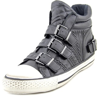 Ash Venom Women Round Toe Leather Black Sneakers