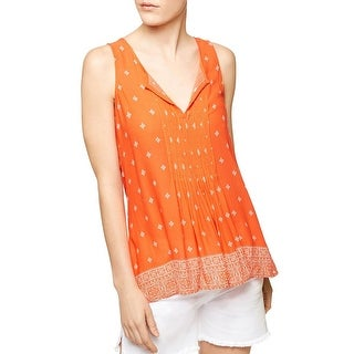 Sanctuary Womens Palma Casual Top Pleated Sleeveless