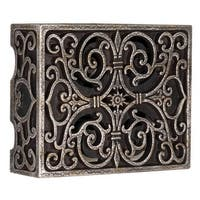 """Craftmade CAB  Traditional 8.5"""" Wide Carved Door Chime - Hand-Painted Renaissance Crackle"""