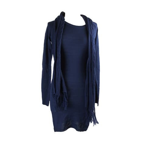 Energie Juniors Blue Sweater Tunic And Scarf M