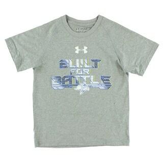 Under Armour Boys San Diego State Aztecs College Short Sleeve Tech T Shirt Grey - grey/white/blue/yellow