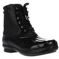 MICHAEL Michael Kors Easton Bootie Short Logo Rainboots, Black