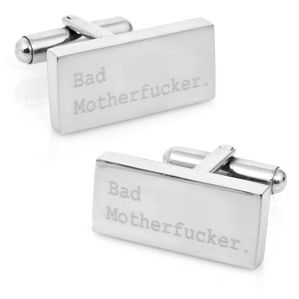 Engraved Bad Mother F'er Cufflinks