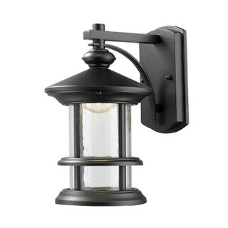 Zlite 552S-BK-LED Outdoor LED Black Wall Light - Clear Seedy