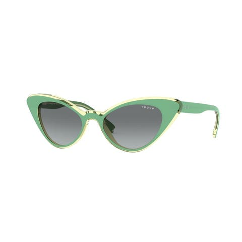 Vogue VO5317S 281011 49 Top Green/transparent Beige Woman Cat Eye Sunglasses