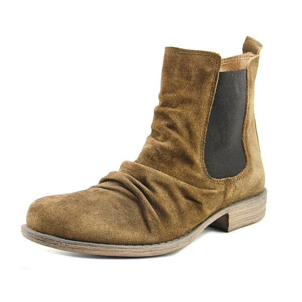 Miz Mooz Lissie Women Round Toe Suede Brown Ankle Boot