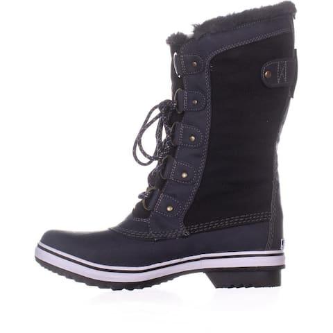JBU Womens Lorna Faux Fur Closed Toe Mid-Calf Cold Weather Boots