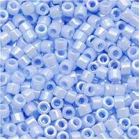 Miyuki Delica Seed Beads 11/0 Opaque Agate Blue AB DB1577 7.2 Grams