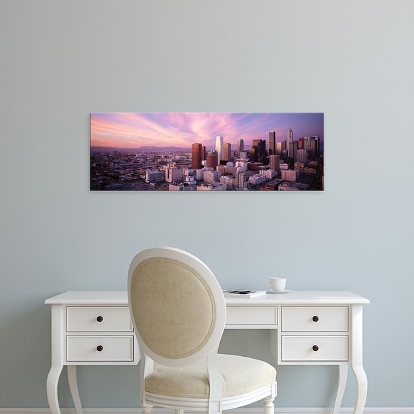 Easy Art Prints Panoramic Images's 'High Angle View Of The City, Los Angeles, California, USA,' Premium Canvas Art