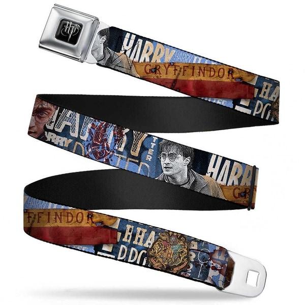 Harry Potter Logo Full Color Black White Poses Harry Potter Gryffindor Seatbelt Belt