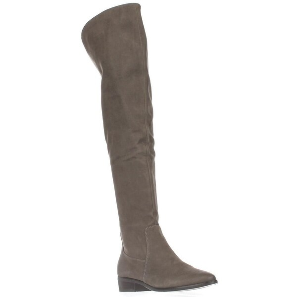 Aldo Chiaverini Over-The-Knee Riding Boots, Grey