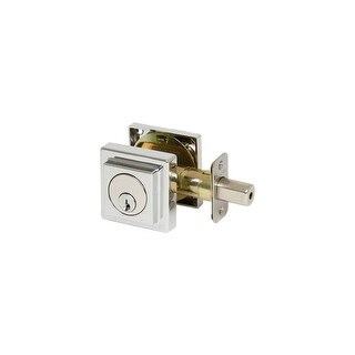 EZ-Set 355006 Single Cylinder Keyed Deadbolt with Square Rose from the Contempor