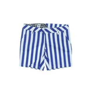 Volcom Womens Juniors Frochickie Casual Shorts Striped Flat Front