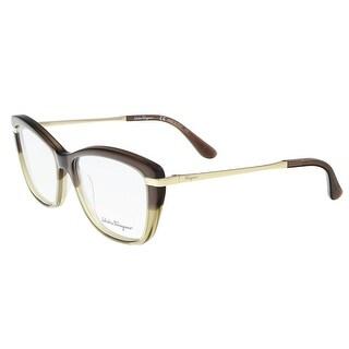 Salvatore Ferragamo SF2730 217 Brown-Beige Cateye Arrow Optical Frames - 53-15-135