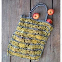Yellow Jute Tote Bag