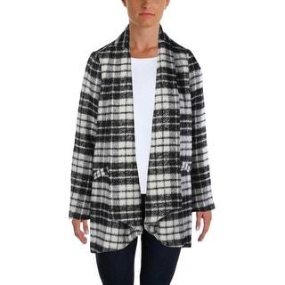 NYDJ Womens Coat Wool Blend Plaid