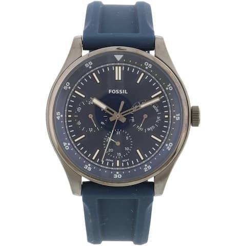 Fossil Men's Belmar Multifunction FS5577 Silver Silicone Japanese Quartz Fashion Watch