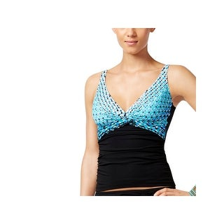 Gottex Womens Printed Plunge Swim Top Separates