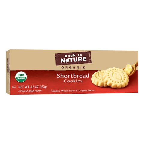 Back To Nature Shortbread Cookies - Case of 6 - 4.5 oz.