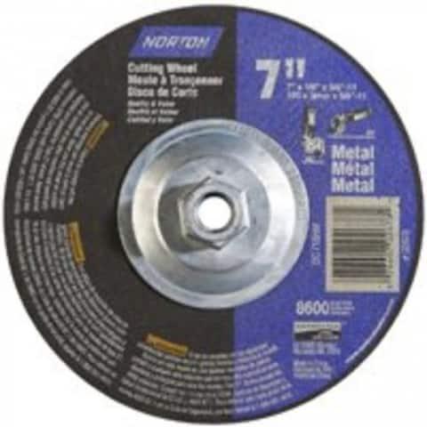 "Norton 07660702678 Depressed Center Cutting Wheel 7""x1/8""x5/8""-11"""