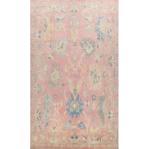 "Floral Authentic Oushak Turkish Oriental Area Rug Wool Handmade Carpet - 9'10"" x 13'4"""