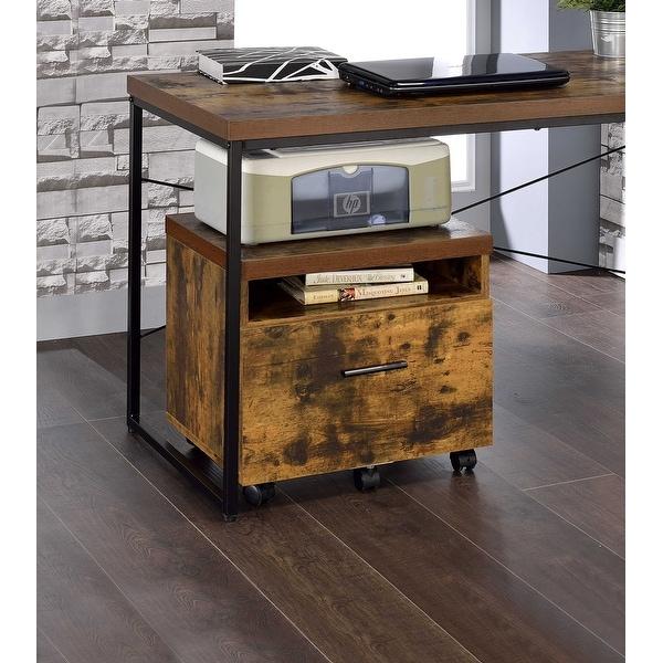 Bookcase In Weathered Oak - Paper Veneer, Board, Meta Weathered Oak