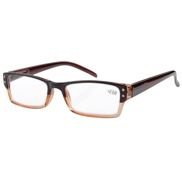 Eyekepper Spring Hinges Reading Glasses Men Women With Case Brown +0.50