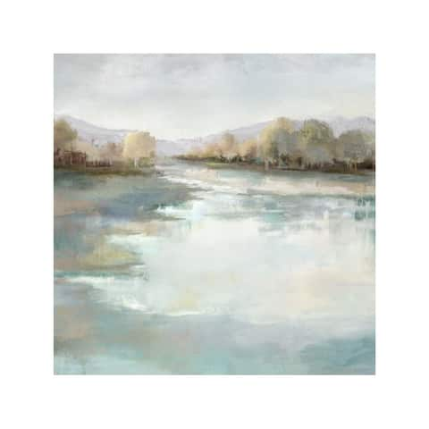 Monoprice SERENE LAKE ARTIST ENHANCED WALL ART 24inX24in
