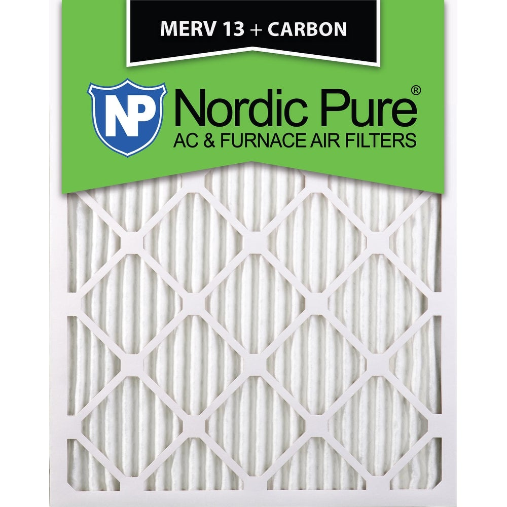 Nordic Pure 16x20x1 MERV 13 Plus Carbon AC Furnace Air Filters Qty 24