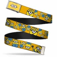 Minion Dave Face Close Up Fcg  Chrome Posing Minions Scattered Gold Web Belt