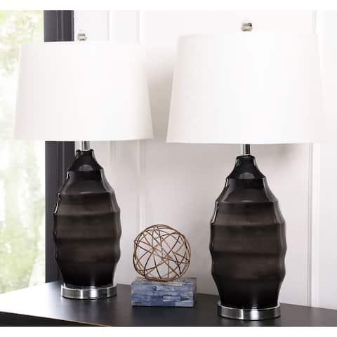 Abbyson Avalahn 29-Inch Glass Table Lamp (Set of 2)