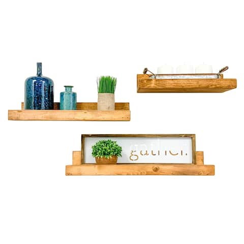 Handmade Rustic Luxe Shelf, Set of 3