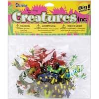 "Darice 1029-11 3"" Multi Colored Plastic Frogs Figurines"