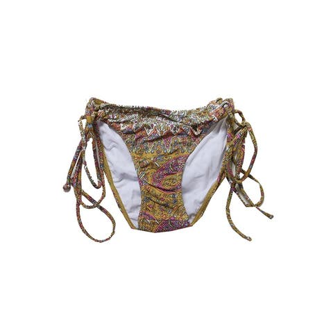 O'Neill Brown Multi Cozmo Tie Side Bikini Bottom XL