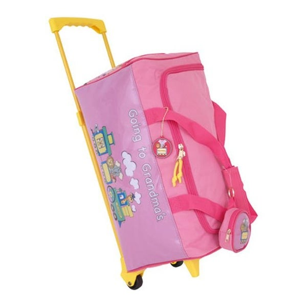 81b4b3cabfb2 Mercury Luggage Children's Going to Grandma's Wheeled Duffle Pink - US  Children's One Size (Size None)