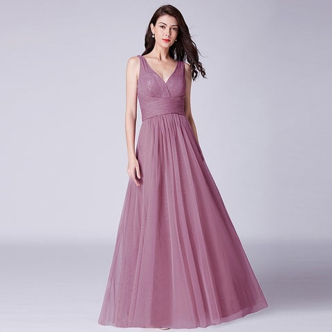 Ever-Pretty Womens Ruched Waist Long Evening Party Prom Bridesmaid Dress 07458