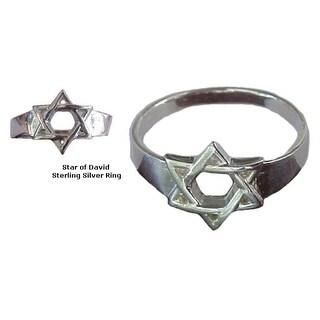 Star of David Sterling Silver Ring