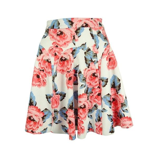 INC International Concepts Women's Floral Print A-Line Skirt