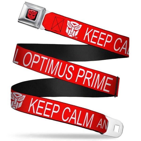 Transformers Autobot Logo2 Full Color Black Red Autobot Keep Calm Call Seatbelt Belt
