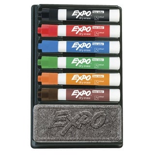 EXPO Dry Erase Low Odor Organizer Kit, Chisel Tip, Assorted Colors, Pack of 6