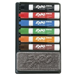 Expo Dry Erase Low Odor Organizer Kit, 7 Pieces, Assorted Color