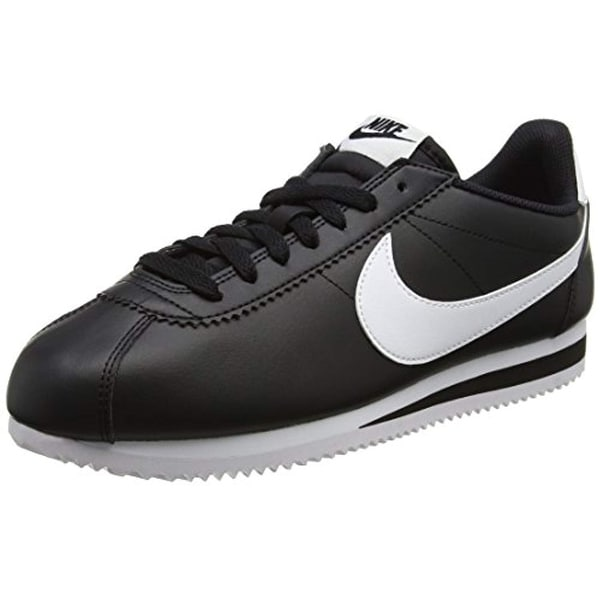 sports shoes 456b7 fe6ab Nike Womens Classic Cortez Leather Trainers 807471 Sneakers Shoes (US 6.5,  Black White 010)