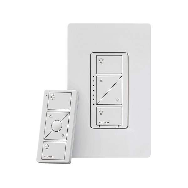 Lutron P-PKG1W-WH-R Caseta Wireless Smart Lighting Dimmer Switch and Remote  Kit, White