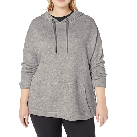 Marc York Gray Heather Women's Size 1X Plus Hooded Sweater