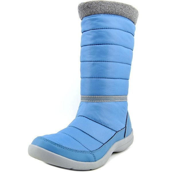 Easy Spirit Kingsland Women W Round Toe Canvas Blue Winter Boot
